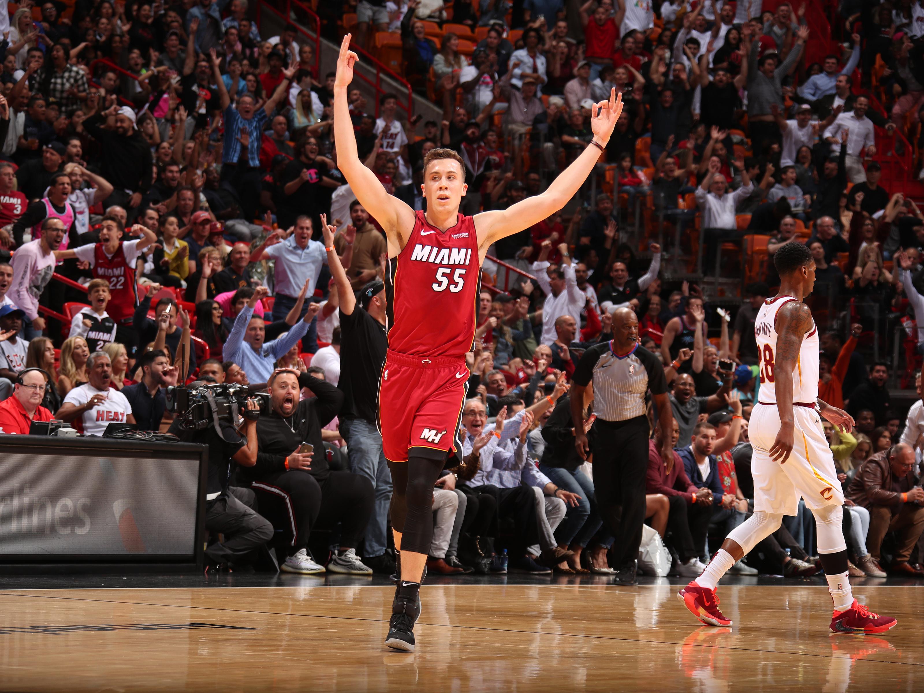 Miami Heat Duncan Robinson Earns The Game Ball Against Cavaliers