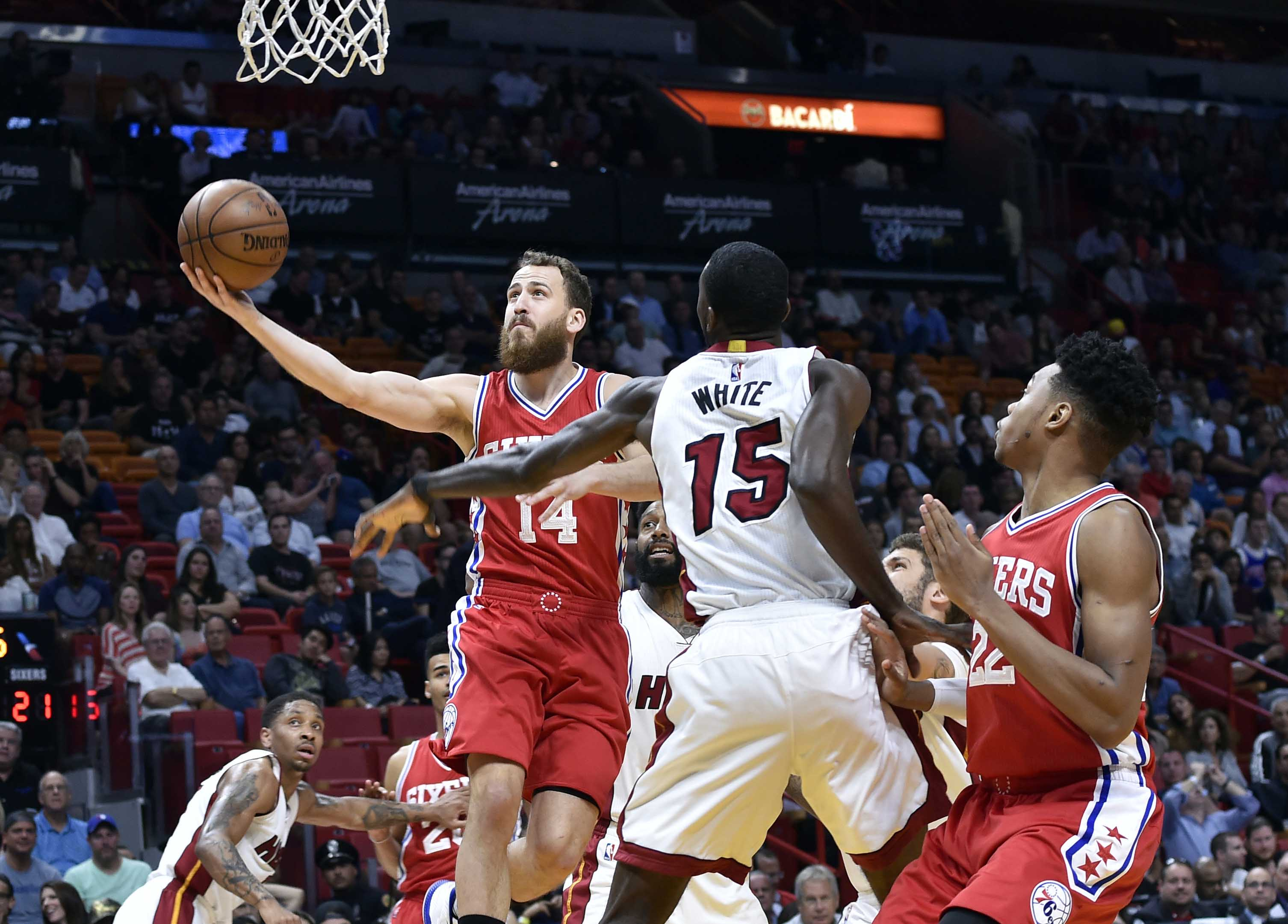 Miami heat updated news - Miami Heat News Com Miami Heat Okaro White Gets The Highlight Yam Off A Tyler